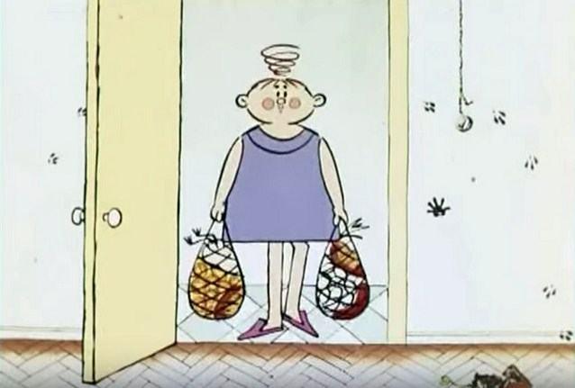 Мама снимает боты