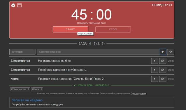 Pomodoro Tracker